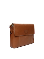 Hidesign Brown Leather Messenger Bag