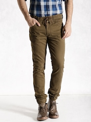 Roadster Brown Casual Jogger Trousers
