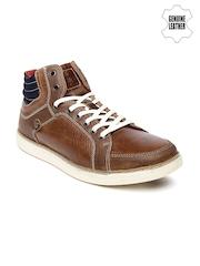 Red Tape Men Brown Genuine Leather Sneakers