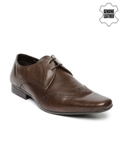 Red Tape Men Brown Genuine Leather Derbys