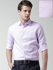 Celio Lavender Checked Formal Shirt