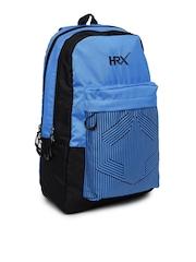 HRX by Hrithik Roshan Unisex Black & Navy Printed Backpack