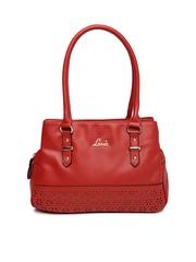 Lavie Red Cut-Work Shoulder Bag