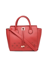 Lavie Red Cut-Work Handbag