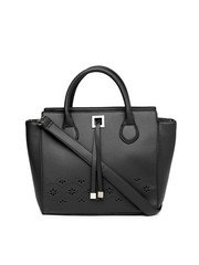 Lavie Black Cut-Work Handbag
