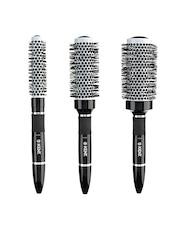 Kent Unisex Set of 3 Black Blow Drying and Styling Hair Brushes