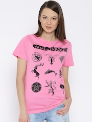 Game Of Thrones Pink Printed T-shirt