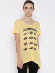 DC Comics Yellow Batman Logo Print T-shirt