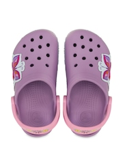 Crocs Girls Purple Printed Clogs