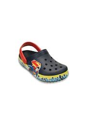 Crocs Boys Navy Printed Clogs