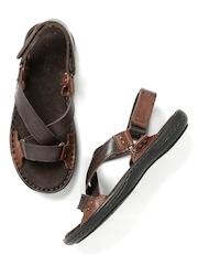 Roadster Men Brown Leather Sandals