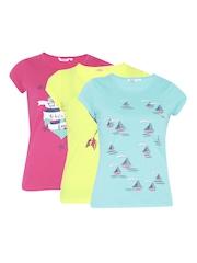 Honey by Pantaloons Pack of 3 Printed T-shirts