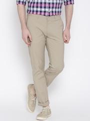 Allen Solly Beige Smart Fit Casual Trousers