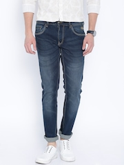 Flying Machine Blue Slim Tapered Michael Fit Jeans