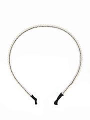 ToniQ Off-White Beaded Hairband