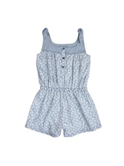 mothercare Girls Blue Floral Print Playsuit