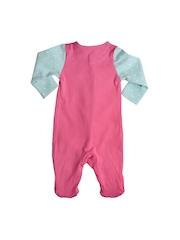 mothercare Girls Pink & Blue Printed Bodysuit