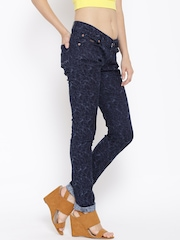 Numero Uno Navy Patterned Eden Fit Jeans