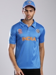 ICC Unisex Blue Team India Polo Jersey
