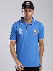 ICC Unisex Blue Team India Polo T-shirt
