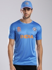 ICC Unisex Blue Team India Crew Neck Jersey
