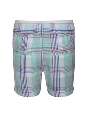 mothercare Boys Blue & White Checked Shorts