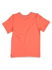 mothercare Boys Orange Printed T-shirt