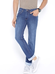 Park Avenue Blue Tapered Fit Jeans