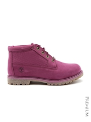 Timberland Women Magenta Leather Boots