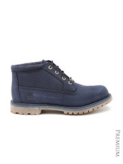 Timberland Women Navy Leather Boots