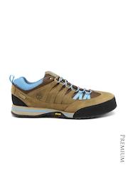 Timberland Men Brown Leather Waterproof Trekking Shoes