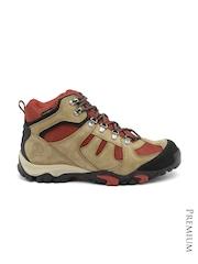 Timberland Men Olive Green & Rust Brown Waterproof Trekking Shoes