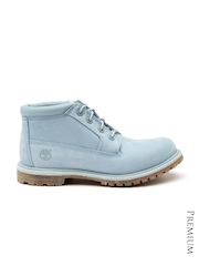 Timberland Women Blue Leather Boots