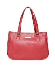 Cappuccino Red Textured Shoulder Bag