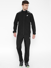 ASICS Black Polyester Tracksuit