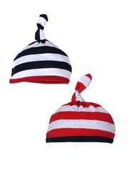 mothercare Boys Pack Of 2 Striped Beanies