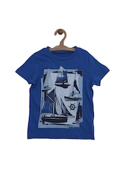 mothercare Boys Blue Printed Comfort Fit T-shirt