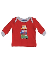 mothercare Boys Red & Grey Printed Night Suit F9800