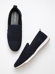 Mast & Harbour Men Navy Slip-Ons
