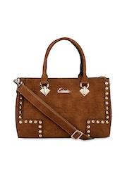 ESBEDA Brown Embellished Handbag