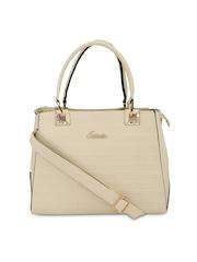 ESBEDA Beige Textured Handbag