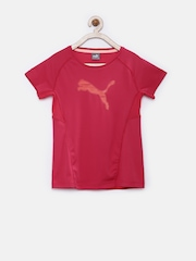 PUMA Girls Pink Printed DryCELL Active T-shirt