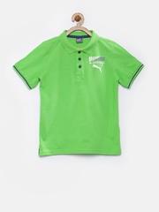 PUMA Boys Green Polo T-shirt
