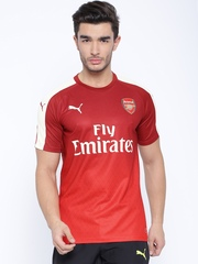 PUMA Red Printed Arsenal DryCELL Sports Jersey