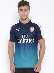 PUMA Blue Printed Polyester Arsenal Football Jersey
