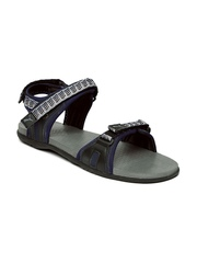PUMA Men Grey & Navy Zoom DP Sports Sandals