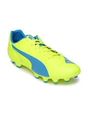 PUMA Men Fluorescent Green evoSPEED4.4FG Football Shoes
