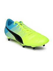 PUMA Men Fluorescent Green Printed evoPOWER4.3SG Football Shoes