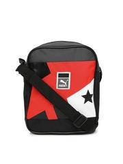 PUMA Unisex Black & Red Printed Sling Bag