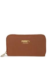 PUMA Women Brown Suede Wallet